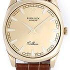 Rolex Cellini Danaos Men's 18k Yellow Gold Watch Champagne...