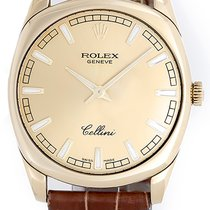 Rolex Cellini Danaos Men's 18k Yellow Gold Watch Champagne...