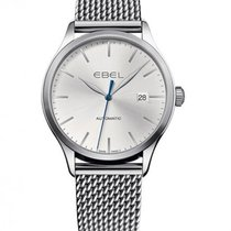 Ebel Classic Steel Case Mesh Link Strap, Silver Dial