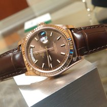 Rolex DAY DATE 118135 BROWN DIAL 18KT GOLD