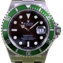 Rolex Submariner 50th Anniversary 16610LV Men's 40mm Green...