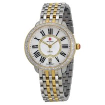 Michele Serein Mother of Pearl Two-tone Ladies Watch