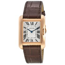 Cartier Tank Anglaise 34.7mm Rose Gold on Leather Strap
