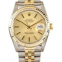 Rolex Datejust Champagne Index Dial Jubilee Bracelet Two Tone...