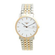 Longines Elegant 18k Rose Gold And Steel White Automatic...