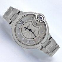 Cartier Ballon Bleu 33mm Automatic Original Diamond Face...