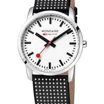 Mondaine Mens Simply Elegant Watch - Black/White Polka Dot...