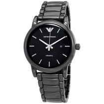 Armani Ceramic Black Dial Mens Watch AR1508