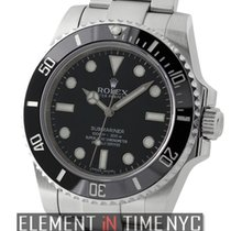 Rolex Submariner No-Date Ceramic Stainless Steel Black Dial...