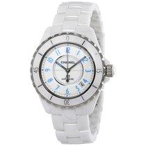 Chanel J12 Blue Light White Dial Ceramic Automatic Unisex Watch