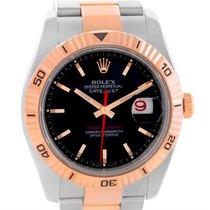 Rolex Thunderbird Turnograph Steel 18k Rose Gold Watch 116261