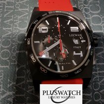 Locman STEALTH Quartz Chronograph  0209BKKBKWHRSIR Steel New