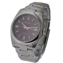 Rolex Used 114300_used_red Mens Oyster Perpetual No Date -...