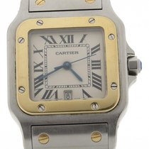 Cartier Santos Steel & Gold Two Tone Midsize 30mm Quartz...