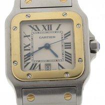 Cartier Santos Steel & Gold Two Tone Midsize 30mm Quartz...
