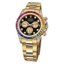 Rolex Used 116598RBOW_used Yellow Gold Daytona Rainbow -...