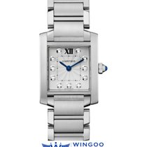 Cartier TANK FRANCAISE STEEL 11 DIAMONDS Ref. WE110006