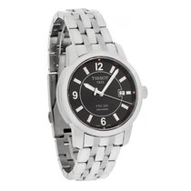 Tissot Mens Prc 200 Black Dial Swiss Quartz Watch T014.410.11....