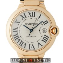 Cartier Ballon Bleu Collection 18 Karat Rose Gold Silver Dial...