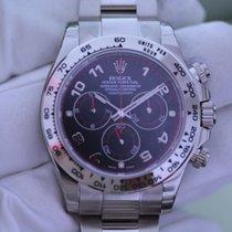 Rolex DAYTONA, WEIßGOLD; ZB SCHWARZ LC100