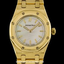 Audemars Piguet 18k Yellow Gold MOP Royal Oak Ladies Wristwatch