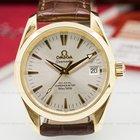 Omega Seamaster Aqua Terra Co-Axial Silver Dial 18K Yellow Gold