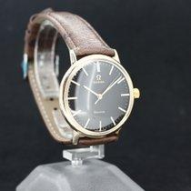 Omega Handaufzug Black Dial vergoldet Cal.601 Anno 1964