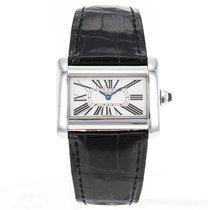 Cartier Tank Divan Mini W6300255 Stainless Steel Quartz Watch...