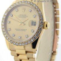 Rolex Midsize 31mm Datejust 18K Gold Diamond Bezel & Dial...