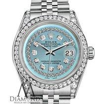 Rolex Diamond Rolex Datejust 36mm Stainless Steel Ice Blue...