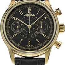 Alpina 130 Pilot Heritage Chronograph Black Dial Men's Watch