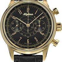 Alpina 130 Pilot Heritage Chronograph Black Dial Men's Watch