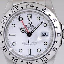 Rolex Explorer II weiß / white dial rehaut Klassiker SEL GMT Top