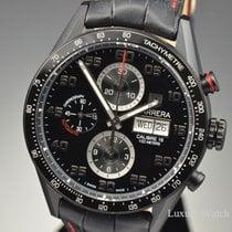 TAG Heuer Carrera Black Dial Chronograph Day-Date Titanium CV2A81