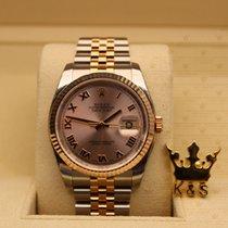 勞力士 (Rolex) 116231  Datejust Rose Gold Pink  Dial (Roman Index)