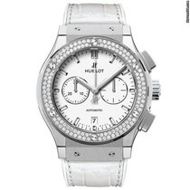 Hublot Classic Fusion Chronograph Titanium White Diamonds