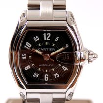 Cartier Roadster Automatic Steel Black Arabic dial