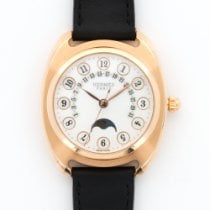 Hermès Rose Gold Dressage Retrograde Calendar Moonphase Watch...