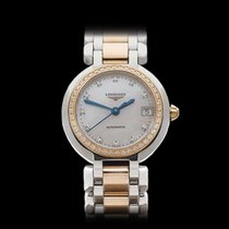 Longines PrimaLuna Stainless Steel/18k Yellow Gold Ladies...