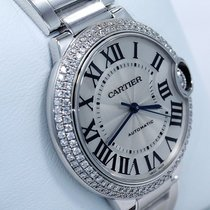 Cartier Ballon Bleu We9006z3 18k White Gold 36mm Fact Diamond...