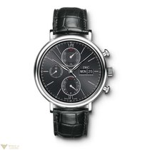 IWC Portofino Chronograph Stainless Steel Black Dial Men`s Watch
