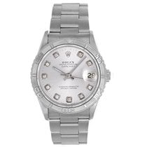 Rolex Datejust Men's Stainless Steel Watch 16264 Diamond Dial
