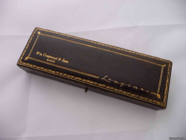 Longines Vintage leather box, dual signed