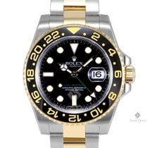 Rolex GMT-Master II Steel and Gold Black Dial Ceramic Black...