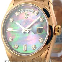 Rolex Day-Date Rose Gold Tahitian Mother Of Pearl Diamond Dial...