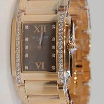Patek Philippe Twenty-4 Rose Full Gold Diamond Bezel Watch...
