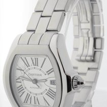 Cartier Mens Large Roadster Automatic Watch Steel Box/Papers...