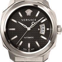 Versace Mens Dylos Automatic Watch  Black Metalic Dial...