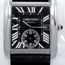 Cartier Tank Mc W5330004 Automatic Black Dial Box & Papers...
