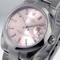 Rolex 178240 Mid Size Datejust Steel Oyster Bracelet Pink Dial